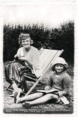 Gladys Cooper (1888-197), English Actress, with Her Daughter Joan, Early 20th Century by Sport & General