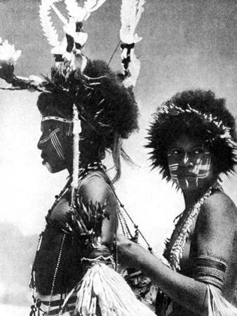 Painted Warriors, Papua, New Guinea, 1936 by Sport & General