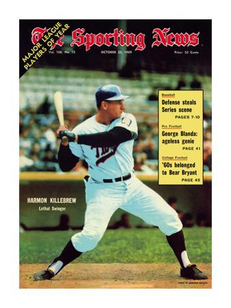 Sporting News Magazine October 25, 1969 - Minnesota Twins' Harmon Killebrew - Lethal Swinger