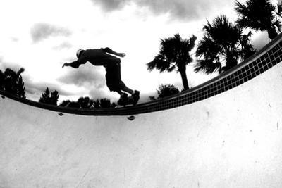 Skateboarding Bw by Sportlibrary