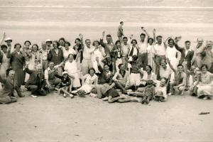 Sports Day for the Gloucester Hotel Party on La Publente Beach, Jersey, 1938