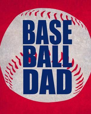 Baseball Dad In Red by Sports Mania