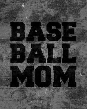 Baseball Mom-Gray by Sports Mania