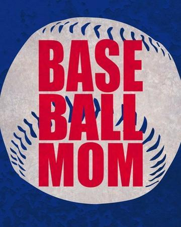 Baseball Mom In Blue by Sports Mania