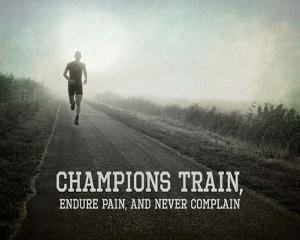 Champions Train Man Black and White by Sports Mania
