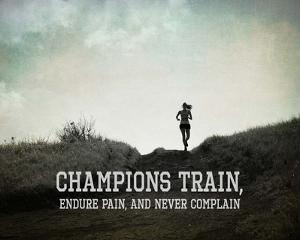 Champions Train Woman Black and White by Sports Mania