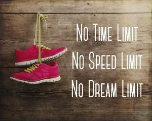 No Time Limit No Speed Limit No Dream Limit Pink Shoes by Sports Mania