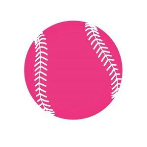 Pink Softball on White by Sports Mania