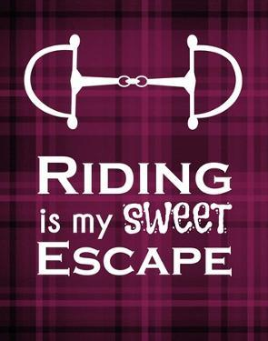 Riding is My Sweet Escape - Red by Sports Mania