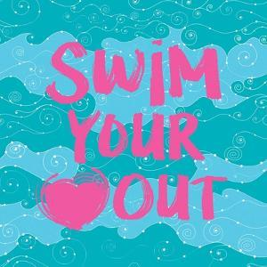 Swim Your Heart Out - Teal Pink by Sports Mania