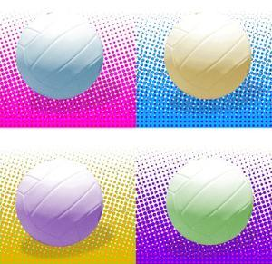 Volleyball Pop Squares by Sports Mania