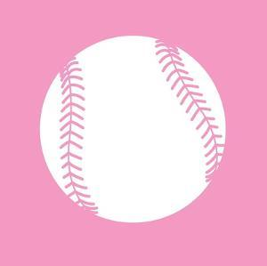 White Softball on Baby Pink by Sports Mania