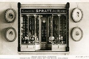 Spratt, Grocer to Her Majesty', Miniature Shop for the Royal Children, Swiss Cottage, Osborne…