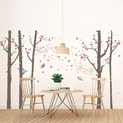 Spring Birch Forest Tree Scene