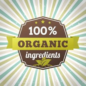 100 Percent Organic Ingredients Eco Label Poster by sputanski
