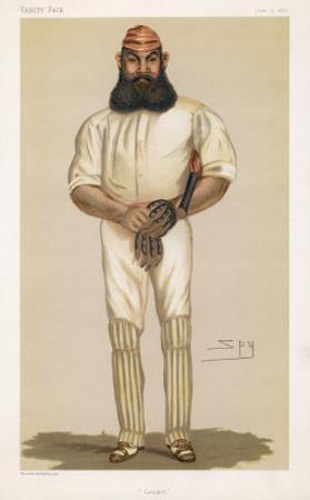 Full Length Illustration of W G Grace by Spy (Leslie M. Ward)