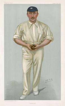 George Hirst Yorkshire Cricketer by Spy (Leslie M. Ward)