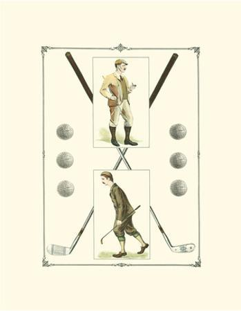 Golfers: H. Hutchinson & John Ball by Spy (Leslie M. Ward)