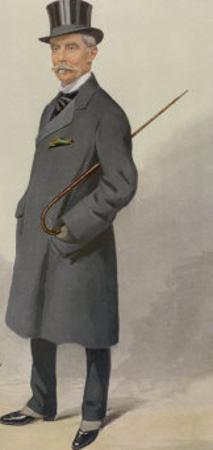 Grey Top Frock 1909 by Spy (Leslie M. Ward)