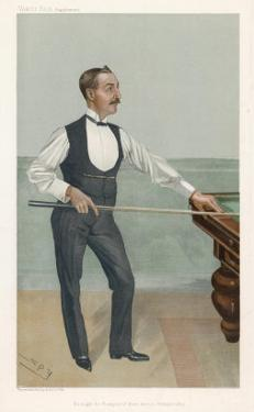 H.W. Stevenson a Leading British Player of His Day Who Won His First Billiards Championship in 1901 by Spy (Leslie M. Ward)