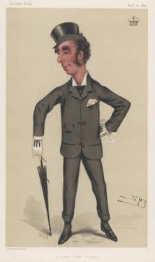 John Sholto Douglas, 8th Marquis of Queensberry and Patron of Boxing by Spy (Leslie M. Ward)