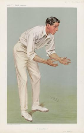 Ken Hutchings English Cricketer by Spy (Leslie M. Ward)