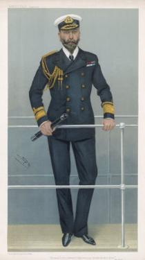 Prince Louis Alexander of Battenberg in Naval Dress by Spy (Leslie M. Ward)