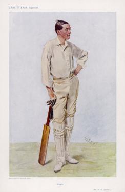 "R H ""Reggie"" Spooner English Cricketer by Spy (Leslie M. Ward)"