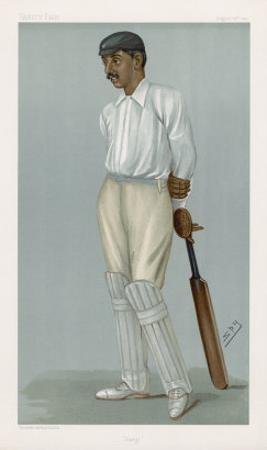 Ranjitsinhji Vibhaji Rajput Nobleman and English Cricketer Who Played for Sussex by Spy (Leslie M. Ward)
