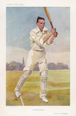 Rev Frank Hay Gillingham English Cricketer in Action by Spy (Leslie M. Ward)