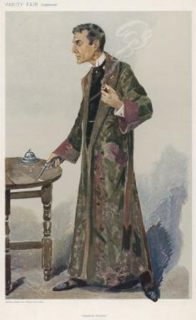 Sherlock Holmes as Played on the London Stage by Actor William Gillette by Spy (Leslie M. Ward)
