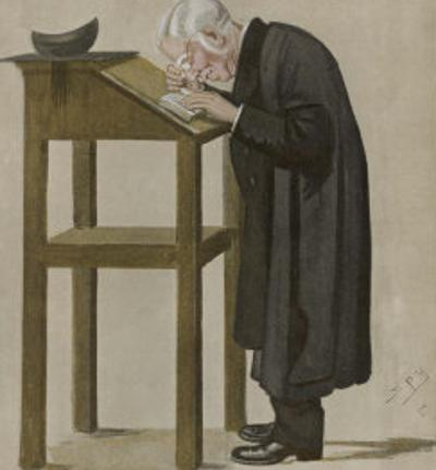 William Archibald Spooner, English Clergyman by Spy (Leslie M. Ward)