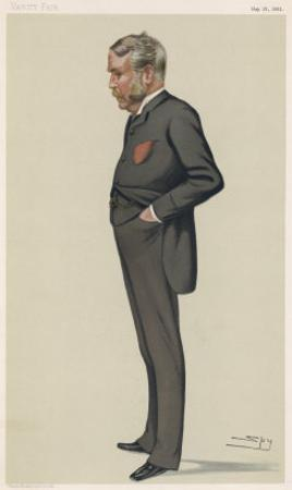 William Schwenck Gilbert English Playwright and Collaborator with Sullivan by Spy (Leslie M. Ward)