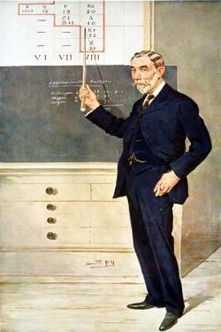 William Ramsay, Scottish Chemist, 1908 by Spy