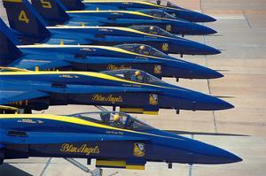 Squadron of F/A-18 Hornet fighters