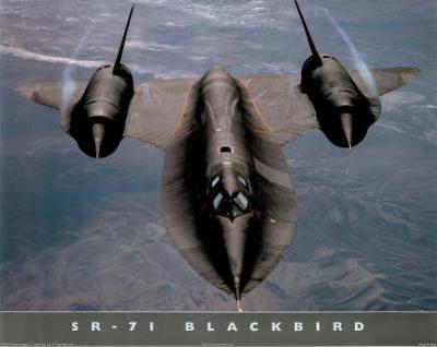 SR-71 Blackbird (In Air) Art Poster Print