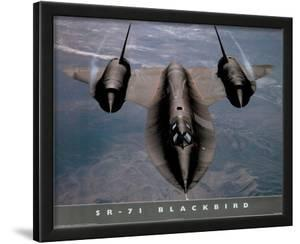 SR-71 Blackbird (In Air) Art Poster Print