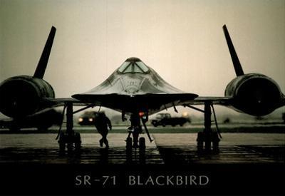 SR-71 Blackbird (On Ground) Art Poster Print