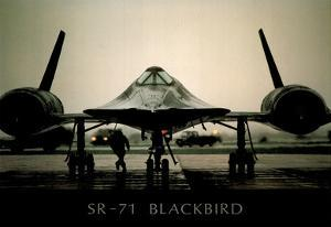 SR-71 Blackbird (On Ground) Art Poster Print