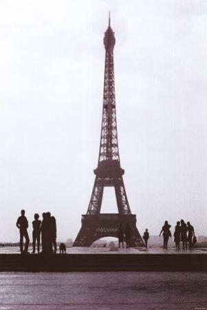 Eiffel Tower B&W by Sree Vardham