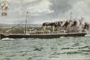 Ss Cambria, Holyhead and Dublin Service, Quickest Route London, Birmingham, Manchester and Dublin