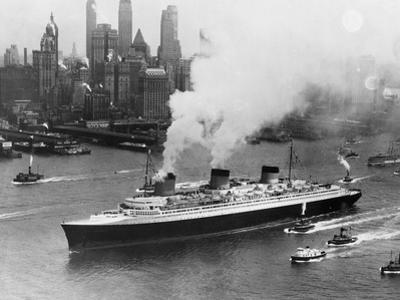 SS Normandie in New York Harbor