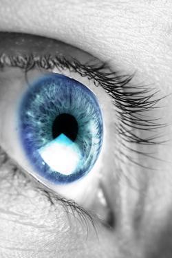 Bright Blue Eye Closeup by SSilver