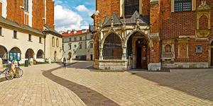 St. Barbara's Church at St. Mary's Square, Krakow, Poland