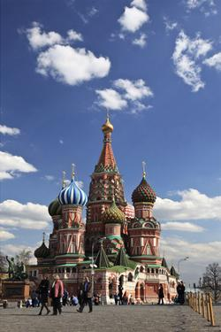 St. Basil's Cathedral on the Red Square, Moscow, Russia