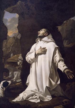 St Bruno Praying in Desert, by Nicolas Mignard