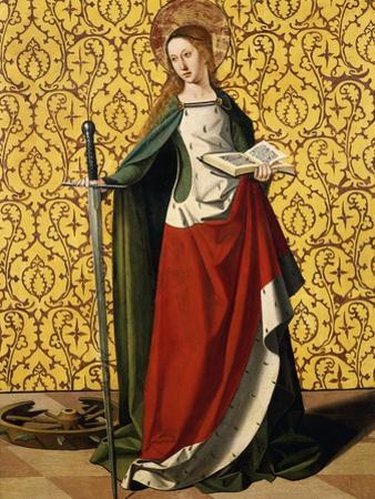 St Catherine of Alexandria, by Josse Lieferinxe