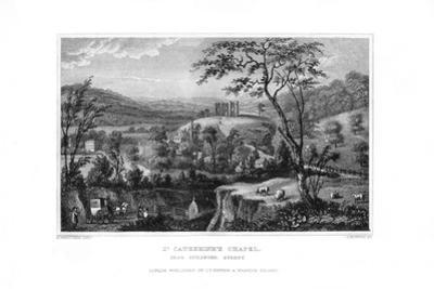 St Catherine's Chapel, Guildford, Surrey, 1829 by J Rogers