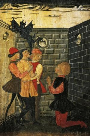 St Eligius Releases a Demon from the Possessed, Detail from the Stories of the Life of St Eligius