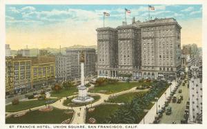 St. Francis Hotel, Union Square, San Francisco, California